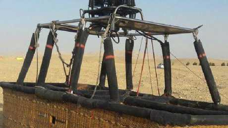 The hot air balloon's pilot lost control in high winds. Picture: Supplied.