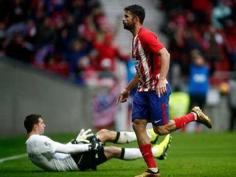Atletico Madrid's Diego Costa scores ...