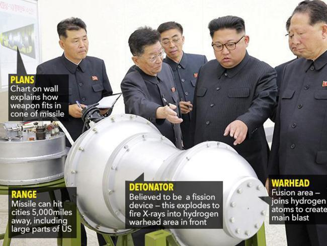 Pyongyang continues to boast of its nuclear capabilities. Picture: The Sun