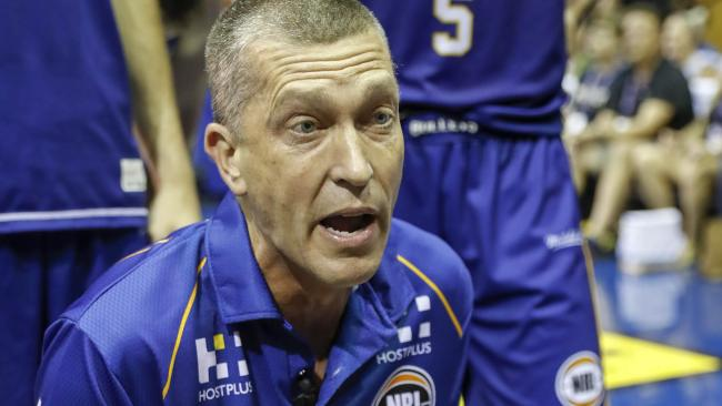 Bullets coach Andrej Lemanis during Sunday's loss. Pic: AAP