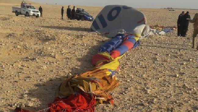 Seven Australians survived the deadly hot air balloon crash in high winds near the southern Egyptian city of Luxor. Picture: Supplied.