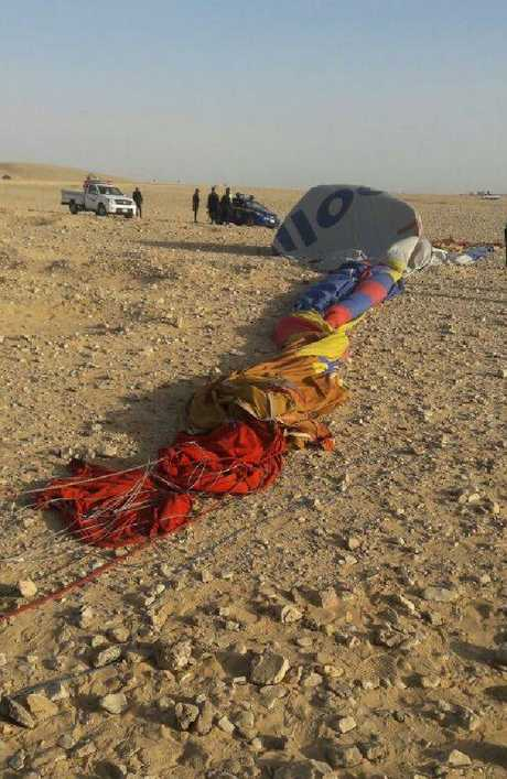 One man died after the overloaded balloon crashed. Picture: Supplied.