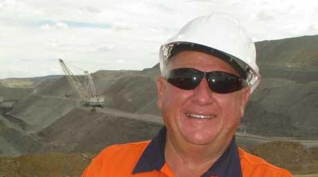 Rockhampton Regional Councillor Neil Fisher on a mine site.