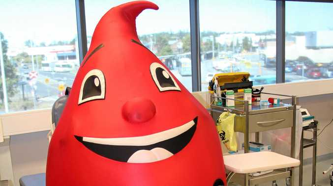 DONATE NOW: Blood Service mascot Billy Blood Drop is looking for some