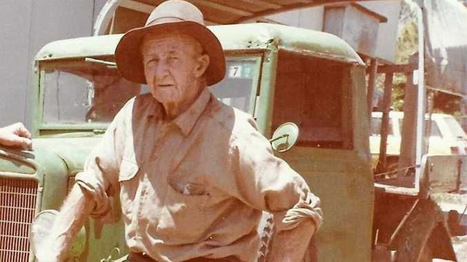 MOUNT MORGAN ICON: Mr Vince Nesfield, a beloved figure of Mount Morgan delivered fruit and vegetables around the historic town in his ute.