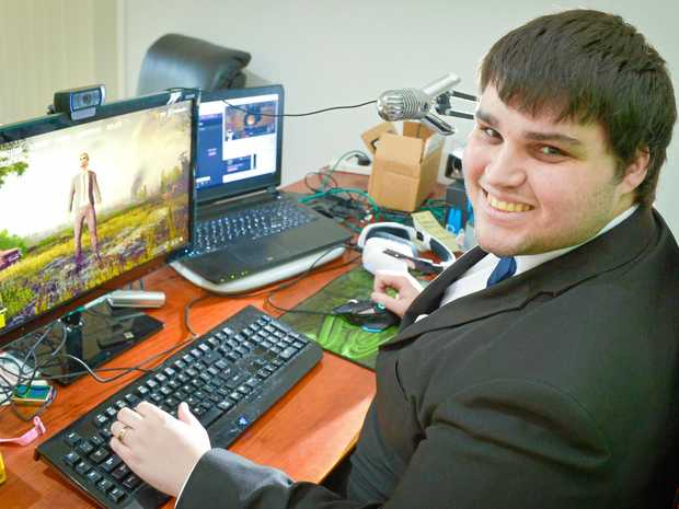 THE ENTERTAINER: Video game streamer Matt Gregory with his streaming set-up.