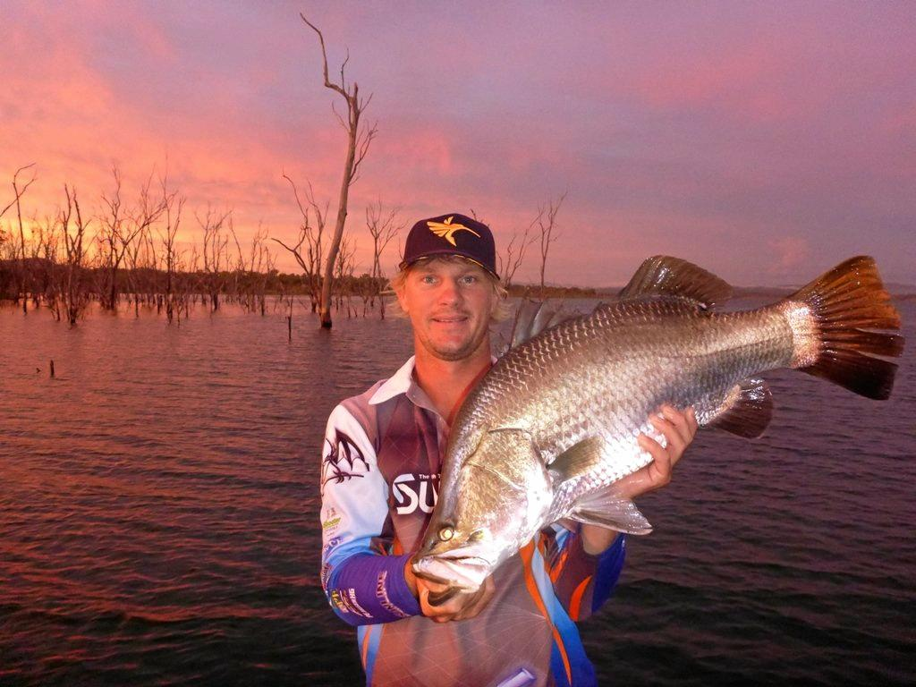 BIG CATCH: Dustin Sippel from Bundaberg with a Lake Awoonga barra. Sippel won the Barra and Basstasstic Tournament in 2015 and 2016.