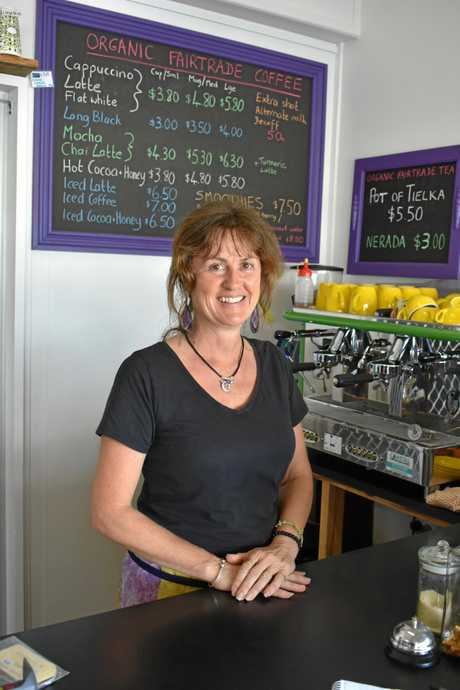 Tina Kirkham, owner of The Cosmic Café had her last day Saturday.