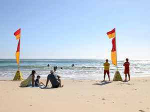Man in hospital after near-drowning in surf