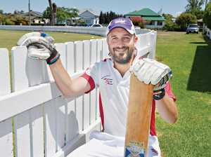 Batsman breaks skipper's window on way to half century