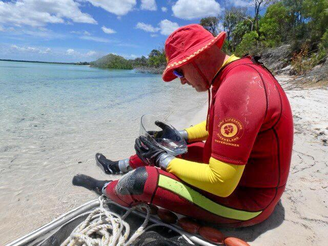 STINGERS: Hervey Bay lifesaver Darren Everard at one of the drags conducted on Fraser Island over the weekend.
