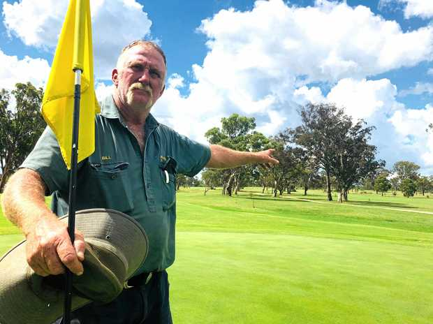 HIS DOMAIN: Stanthorpe Golf Course greenkeeper of several years, Bill Pyne, is in his element when he's out on the course.