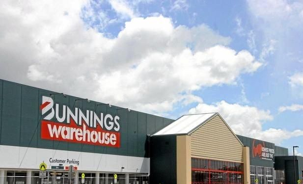 The man was caught after an incident at Bunnings.
