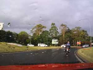 Car spins out of control on wet Toowoomba Range