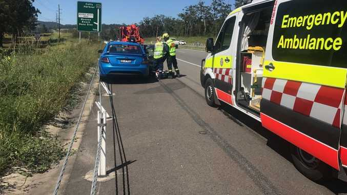 According to a NSW Ambulance spokesperson, a man, aged 50, has driven off the road into an embankment at Moonee Beach.