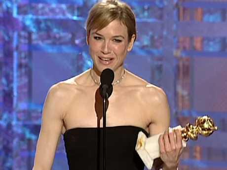 Renée Zellweger almost missed her Golden Globe in 2001. Picture: YouTube