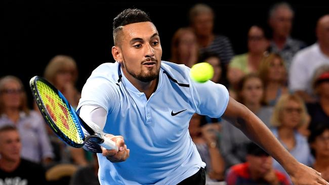Nick Kyrgios wants to perform in front of his home fans. Picture: Getty Images