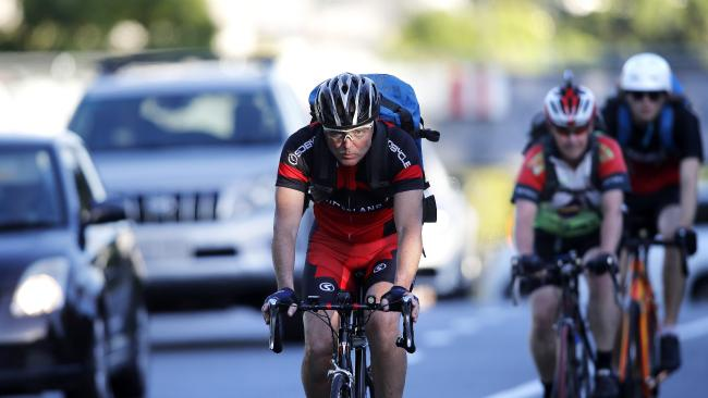 Bicycle Queensland wants a truce between cyclists and motorists. Picture: AAP Image/Josh Woning