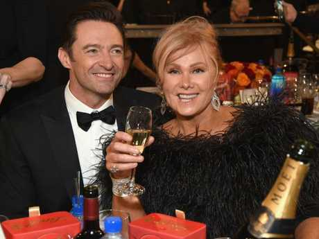 Hugh Jackman  and Deborra-lee Furness celebrate in style.