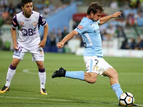 Nick Fitzgerald of Melbourne City. Pic: Michael Klein
