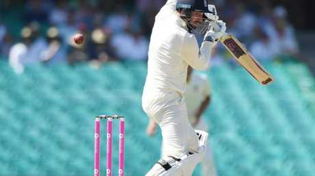 James Vince nicks off Pat Cummins on day five of the SCG Test.