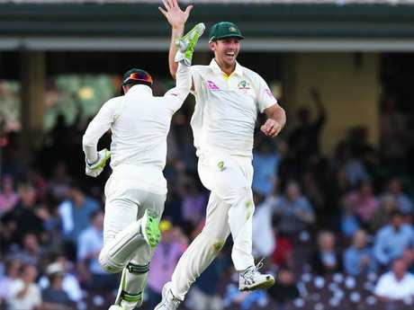 It was high fives all around for the men recalled to Australia's Test team.