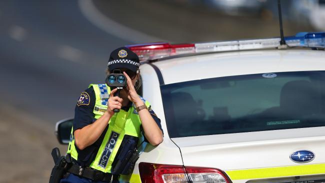 Speeding motorists are in police sights. Picture: MATT THOMPSON