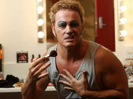Craig McLachlan in his dressing room before a performance of The Rocky Horror Show in 2017. Picture: Calum Robertson
