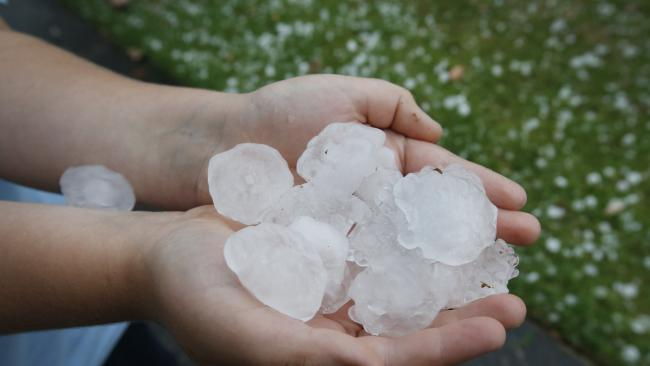 RED ZONE: Storm chasers warn of 'severe' hail storms