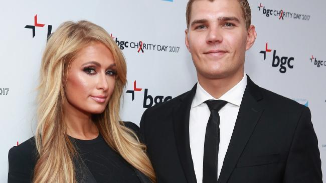 The happy couple: Paris Hilton and Chris Zylka.