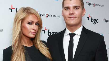 The happy couple: Paris Hilton and Chris Zylka.