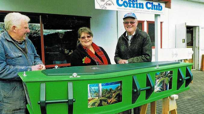 QUIRKY COFFINS: Another great job done by a Rotorua Coffin Club member.