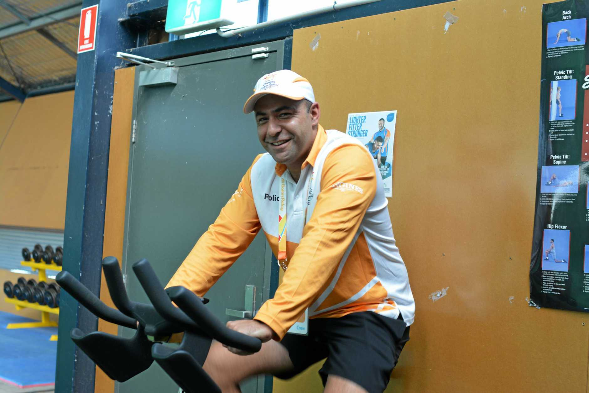 SHAPING UP: Lowood Police Constable Steve Armstrong-Ravula is keeping fit ahead of his new role as Asset Protection Officer of the Queen's Baton Relay.