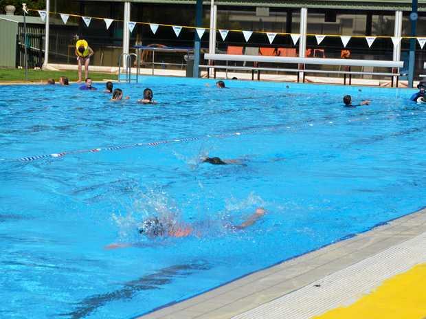 MAKING A SPLASH: Swim squad and learn to swim will start back when school returns.