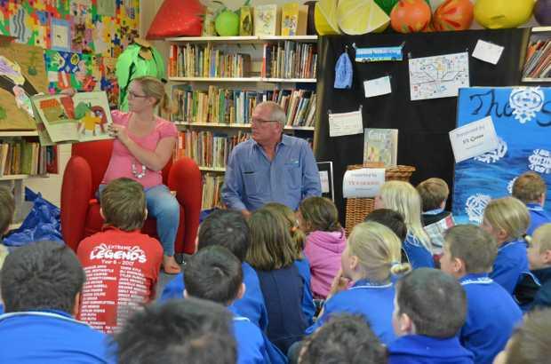 EARLY EDUCATION: C&K Gayndah Kindergarten teacher Laura Ballantyne-Wren and Councillor John Zahl were guest speakers at the Gayndah State School Book Week.
