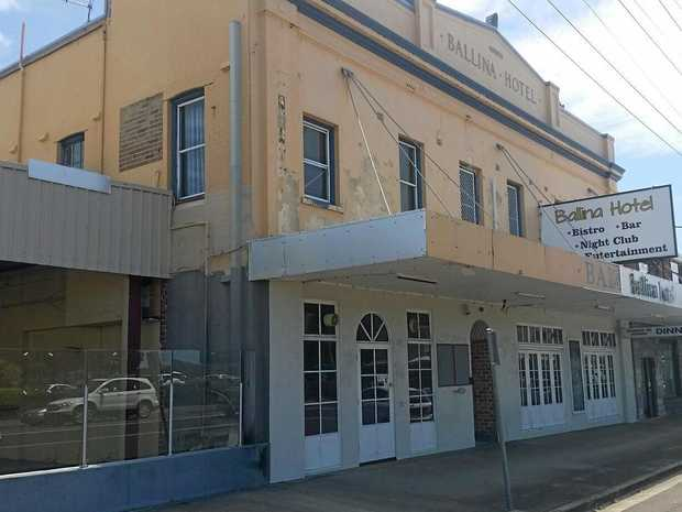 DOORS ARE SHUT: The now-closed Ballina Hotel in River St.