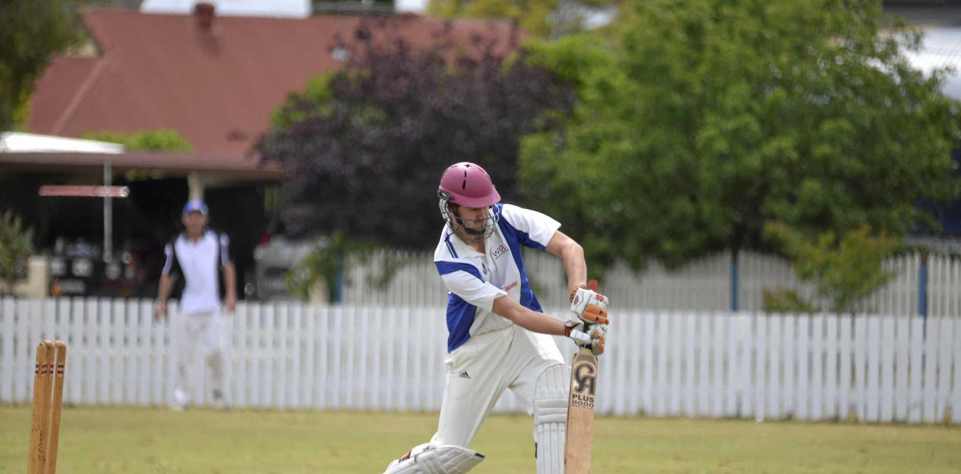 GAME ON: Warwick captain Jason Steketee in Mitchell Shield cricket at Slade Park.