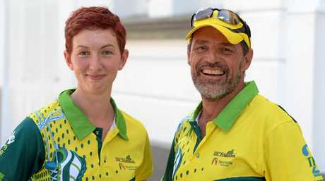 Fitzroy Frogs member April Sprague and president Craig McCormack.