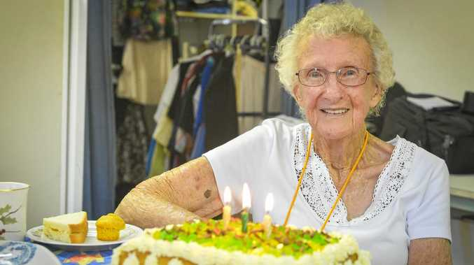 Val Peever turned 90 on January 1, 2018, and has been volunteering at Blue Care Gladstone for 38 years.