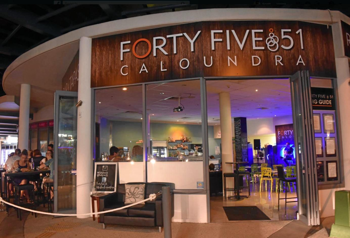 RETURNING: Popular live music bar and restaurant Forty Five 51 Caloundra is reopening in just a few days.