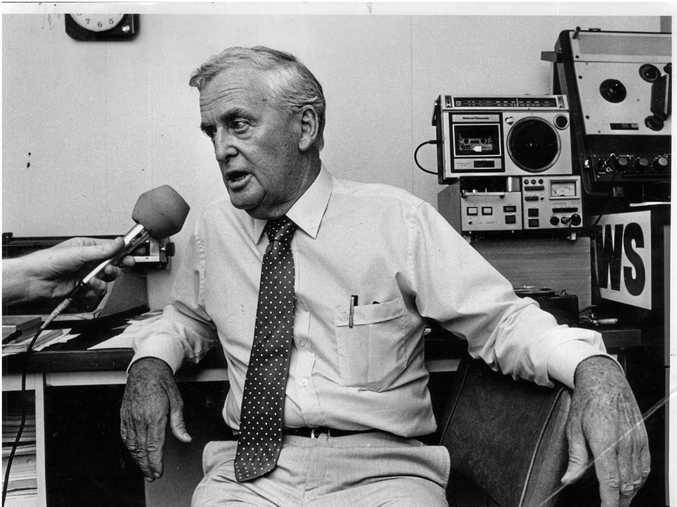 Joh Bjelke-Petersen, former premier of Queensland, pictured alone, 1985-1986.