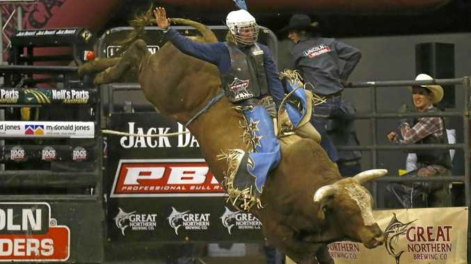 Clermont cowboy Aaron Kleier.