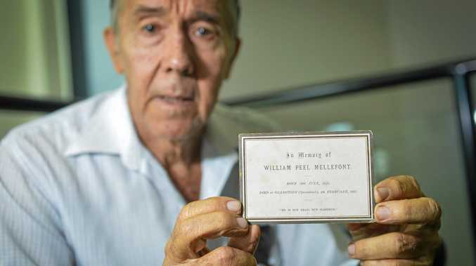 BIG FIND: Jimmy Harris found this memorial card belonging to William Peel Mellefont.