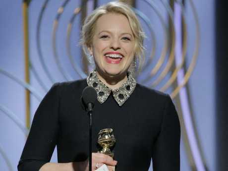 Moss accepting her Golden Globe. Picture: Paul Drinkwater/NBCUniversal via Getty Images