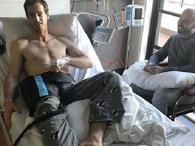 Andy Murray posted this image after his surgery