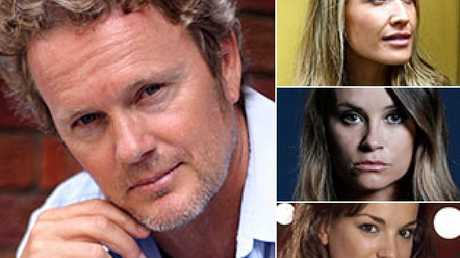 Craig McLachlan and from top right, Erika Heynatz, Christie Whelan Brown and Angela Scundi.