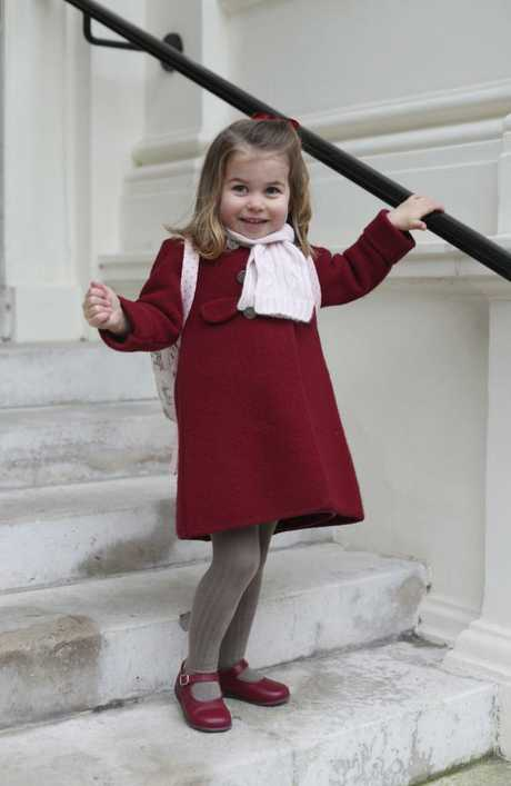 Princess Charlotte was photographed by her mum, Kate. Picture: Duchess of Cambridge via AP