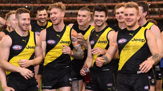 Kane Lambert (left) says Richmond will only get better in 2018. Picture: AAP Images