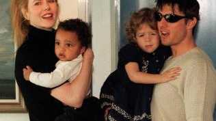 Kidman and Cruise with their adopted children Connor and Isabella