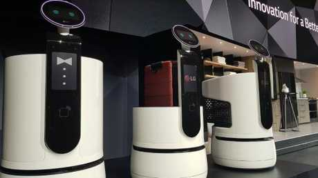 LG also revealed concept robots designed to serve breakfast and check in guests at hotels plus a shopping cart robot that scans barcodes. Photo: Tanya Westthorp